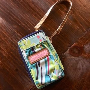 Lilly Pulitzer Wild Print Colorful Wristlet Wallet