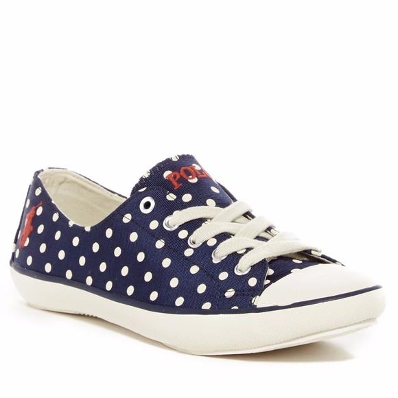 Polo Parnell Sneaker 8.5 Navy Polka Dot