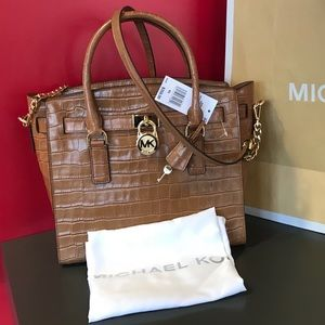 $358 Michael Kors Hamilton LG Satchel Handbag Bag