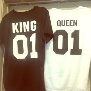 Tops - NWOT!! King & Queen Couples T-shirts