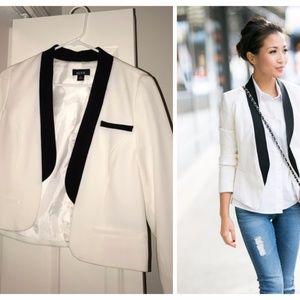 ALYX Black White Tuxedo Cropped Blazer