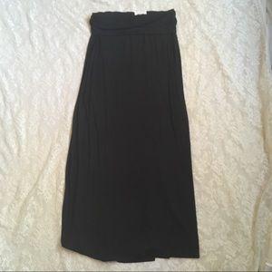NWT a.n.a banded black maxi skirt