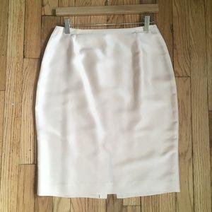 Vintage 100% Silk Pencil Skirt Pale Pink Size 6