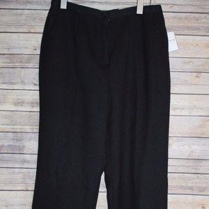 SAG HARBOR Pleated Front Pants Black 12P HW1692