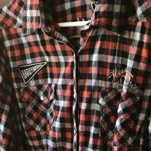Harley button up shirt