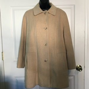 Jackets & Blazers - Tan Wool Woman's Petite Peacoat
