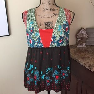 Anthropologie Moth Boho Top