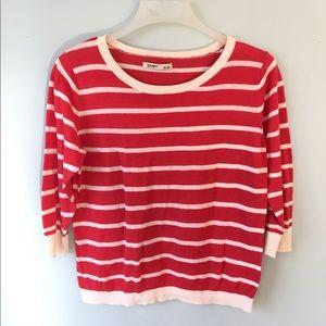 Sweaters - Women's Red & White Sweater