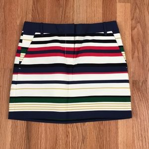 NWT J.Crew Striped Skirt