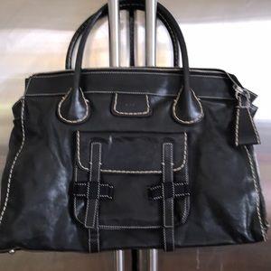 CHLOE XLG Black Leather Edith Bag/Satchel A+ Shape