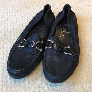 AGL navy blue loafers