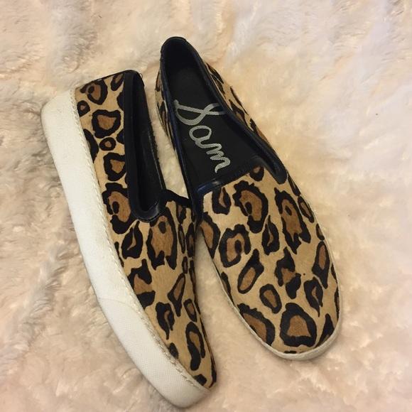 791d0b5885b137 Sam Edelman Becker Leopard Calf Hair Sneaker. M 5a218f77291a35167601573c.  Other Shoes ...