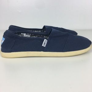 Toms Navy Canvas Brand Youth Canvas Shoes Size Y5