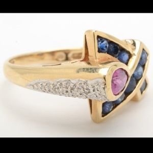 Jewelry - Retro Sapphire and Ruby ring