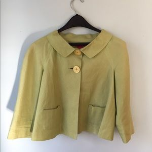 Pea Green Cropped Jacket