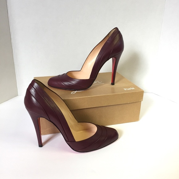 ffeffcba1529 Christian Louboutin Shoes - Louboutin Pumps 39 Insectika 100 Burgundy EUC