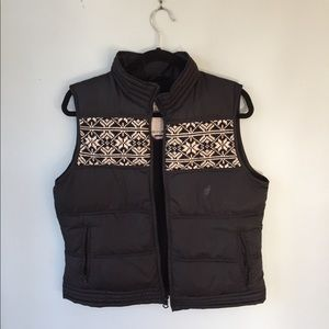 Snowflake Knit Puffer Vest