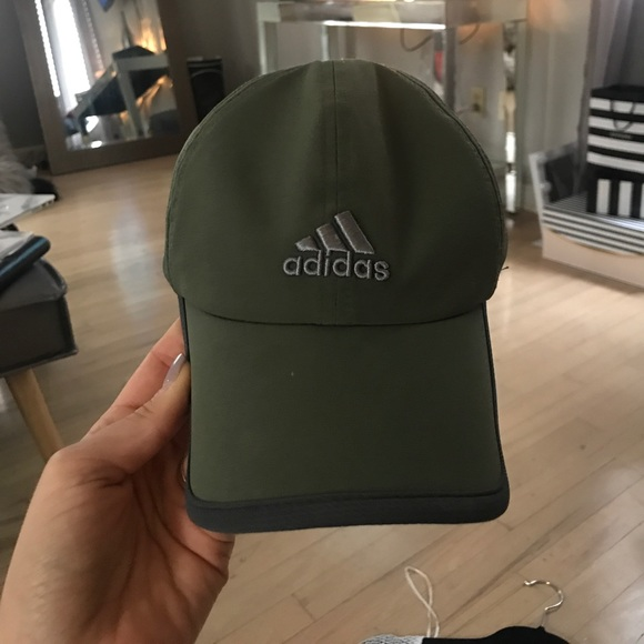 Adidas Accessories - OLIVE GREEN ADIDAS BASEBALL CAP eb1461ca855
