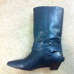 538c6ff472fab FRYE Shoes | Sunny Navy Blue Leather Midcalf Boot 6 | Poshmark