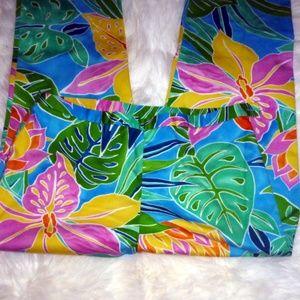Lauren Ralph Lauren Floral Pants Sz 10