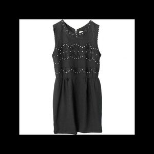 Sandro embellished little black dress in size 4/6