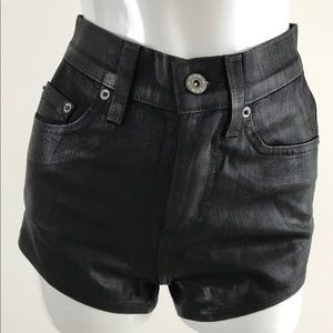NWT Women's Carmar LF Black Wax Denim Jean Shorts