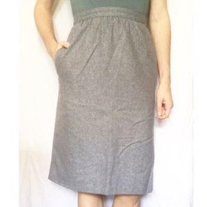 🔴FINAL SALE🔴 Vintage Wool Pencil Skirt w/pockets