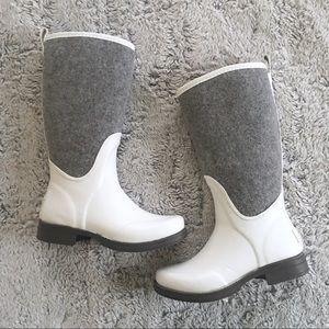 0db6395ca0a [UGG] Reignfall Rain Winter Boot White Gray NWT