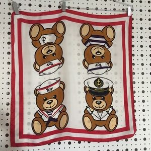 Moschino Teddy Bear Silk Scarf (BRAND NEW)