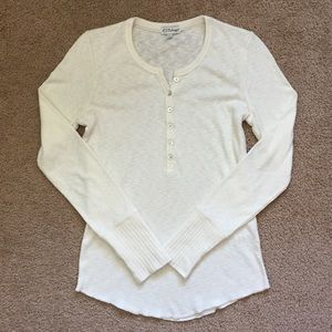 Nordstrom White Thermal Long Sleeve