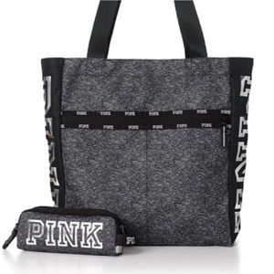 Pink VS tote & small pouch