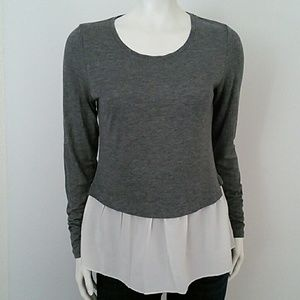 Nordstrom hinge gray long sleeve top size XS