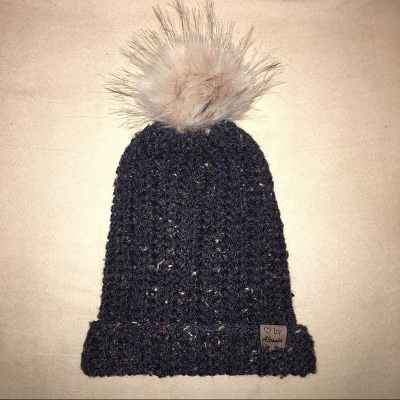 3ebd0d214b6 Handmade faux fur Pom Pom hats