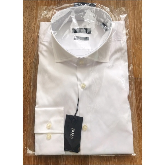 1c5cb8306 Hugo Boss Shirts | Jason Slim Fit Solid Stretch Dress Shirt | Poshmark