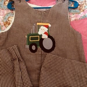 Boy's Christmas Romper-Keys Kids by Sandra Keys