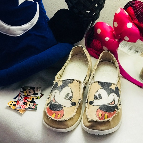 good quality huge discount uk cheap sale CROCS Shoes   Disney Mickey Mouse Canvas Sz 10w   Poshmark
