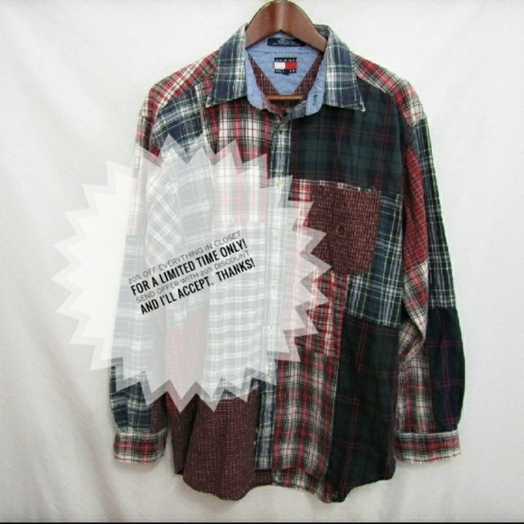 eb3c72f6 Tommy Hilfiger Shirts | Vintage 90s Button Down Shirt | Poshmark