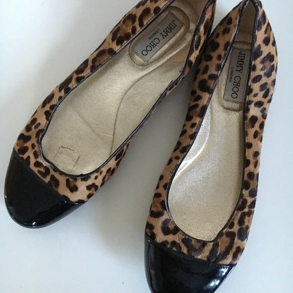 c28b0036e157 Jimmy Choo Shoes - Jimmy Choo leopard print flats
