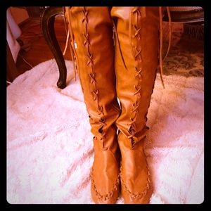 Shoes - Over the knee BoHo Hippie Festival boots