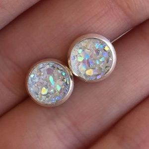 Drusy Iridescent Earrings