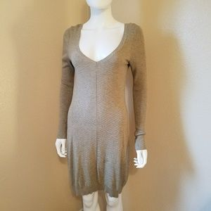 Fitted sweater dress