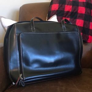 Lodis Structured Leather Business Tote