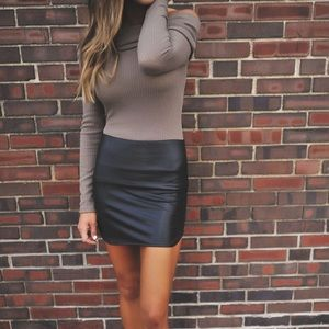 Dresses & Skirts - Leather Mini Skirt