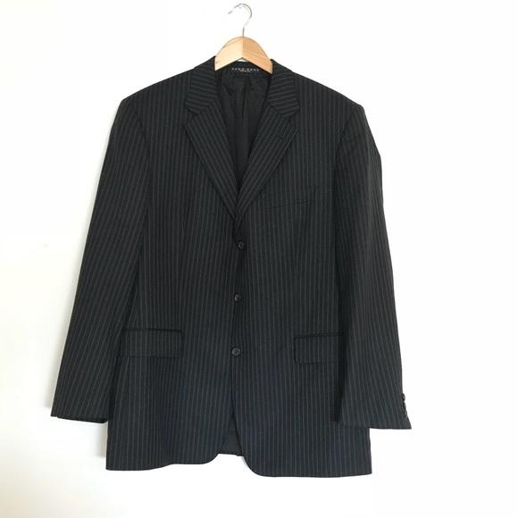 8943c7f7 Hugo Boss Suits & Blazers | Mens Jacket Black Striped | Poshmark
