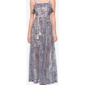 Jessica Simpson White/Blue Floral lace Maxi dress