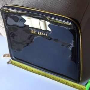 Ted Baker Black patent leather IPad Case
