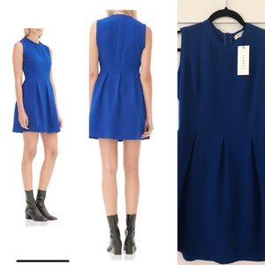 Sandro blue pleated dress.