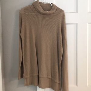 Tan Lose turtle neck sweater