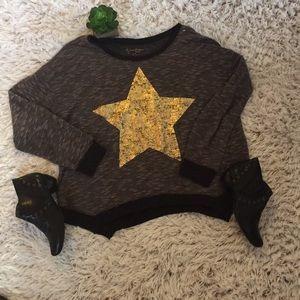 Jessica Simpson Gold Star Sweater Size 2X