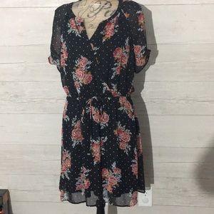 Daniel Rainn Black Floral Dress